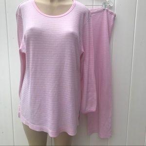 Victoria's Secret 100% cotton Waffle pink PJ set M